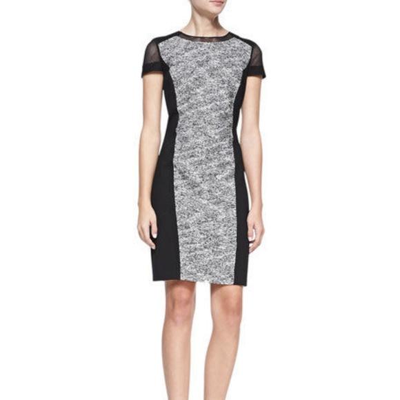 de8f6816 Elie Tahari Dresses & Skirts - Elie Tahari Jaylene Ponte-Panel Tweed Sheath  Dress